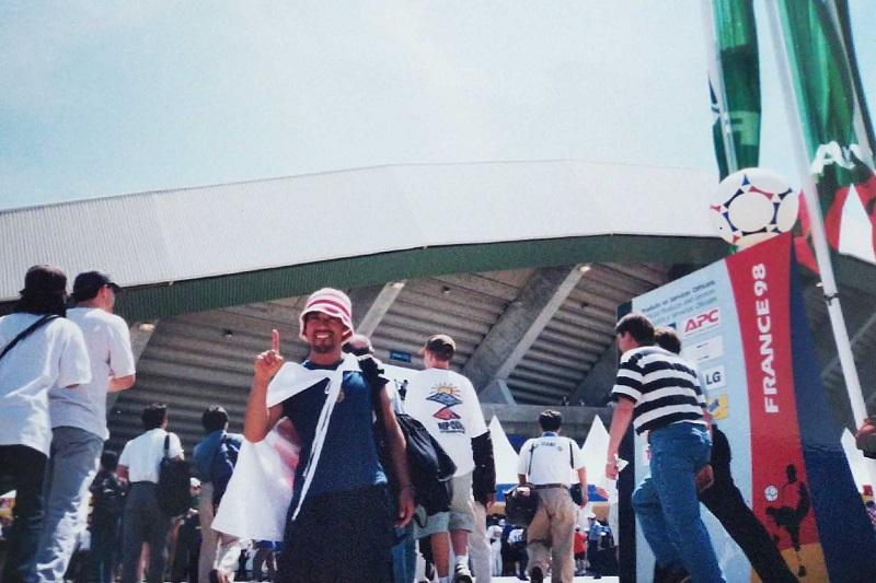 フランスワールドカップを観に行ったヒゲ面の西野